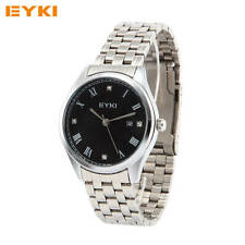 Casual Couple Quartz Watch Fashion Stainless Steel Band Wristwatch For Lovers