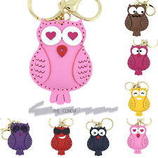 New Small humorous face Owl Key Ring Key fob Key Chain Kids Bag Accessories
