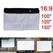 16:9 Outdoor Home KTV Projector Screen HD Movie Cinema Theater 100/120/150inch