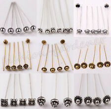 Wholesale 20Pcs Silver/Golden Plated Metal Head/Crown/Ball Pins Jewelry Making