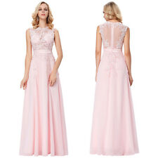 Long Formal Evening Ball Gown Wedding Bridesmaid Party Lace Prom Long Dress Maxi