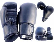 Boxing Gloves Punch Bag Cowhide Leather Pro Kick Fight Gym Punch Training Mitts