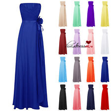 Long Chiffon Formal Evening Wedding Bridesmaid Dress Prom Party Gowns Stock 6-20