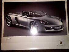 Porsche 911 Carrera GT.Original Showroom Poster RARE!! Awesome L@@K
