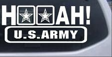 Hooah US Army Car or Truck Window Laptop Decal Sticker Military 8X3.5