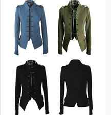 Women Ladies Stand Collar Double-breasted Short Coat Jacket Outwear Fashion