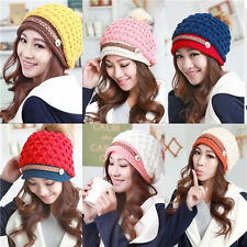 Winter Warm Cap Women Ladies Beret Braided Baggy Beanie Crochet Knit Hat NEW 188