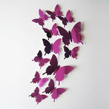 Living Room Bedroom Home Decorate Decal Butterflies Mirror Wall Art Home Decors
