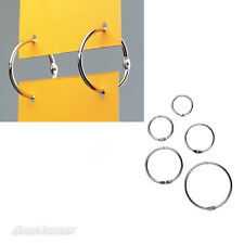 10 x Metal Nickel Split hanging Rings /sizes: 20 / 25 / 32 / 38 / 50mm Diameter