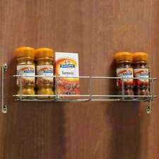 MULTI PACK SPICE RACK Herb Jar 1 Tier Kitchen Cupboard Cabinet Door Wall CHROME