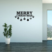 Wall Decal Quote Merry Christmas Adhesive Vinyl Sticker Christmas Decor (W74)