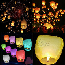 20/50Pcs Sky Lanterns Chinese Paper Fire Candle Wish Wedding Flying Party Lamp