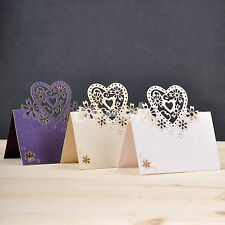 50pcs Table Name Place Cards Love Heart Laser Cut Wedding Party Gift Favor Decor