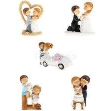 Wedding Birthday Romantic Bride Groom Cartoon Cake Topper Figurine Cake Decor