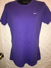 NIKE FIT DRY Purple Top womens size S Small (4-6) Crew Neck