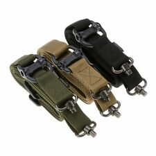 "Tactical 1 or 2 Point Multi Mission 1.25"" Rifle Sling Quick Detach QD Swivel End"