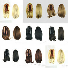 New Short Ponytail Hair Extensions Synthetic Hair Wavy Claw Clip Hair Pieces d29