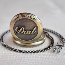 The Greatest DAD Belt Chain Quartz Pendent Pocket Watch Hour Father's Day Gift