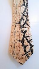 Christian Tie - Thorns and Crosses (Silk)