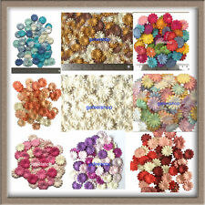 100 X Daisy Flowers Mulberry Paper Craft Scrapbooking Embellishments Cardmaking