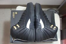 Youth Nike Air Jordan 12 Retro BG Sz 4.5Y The Master Black Gold New 153265-013