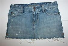 WOMENS Juniors ABERCROMBIE AND FITCH Skirt Distressed Frayed clothes EUC Size 00