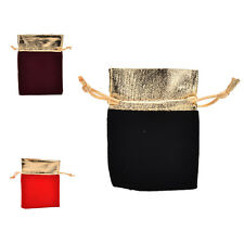10 PCS New Velvet Jewelry Drawstring Gift Gags Pouch Wedding Party Favors BH