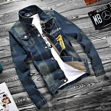 2017 Mens VINTAGE Casual Coat Retro Outwear Denim Jean Jacket US sz S M L XL 2XL