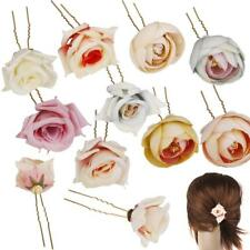 Women Beach Orchid Bridal Wedding Flower Hair Clip Brooch Barrette Headpiece Pin