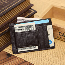 Men Faux Leather Money Clip Wallet Credit Card ID Holder Business Pocket Clever