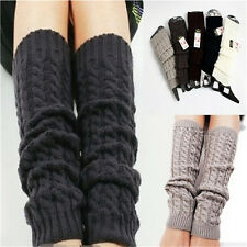 Womens Winter Knit  Crochet  Knitted Leg Warmers Legging Boot Cover