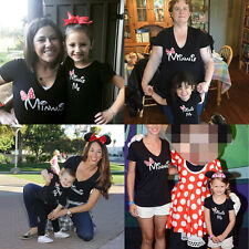 Mom & Kids Baby Girls Clothes Minnie Mouse T shirt Tops Family Matching Outfits