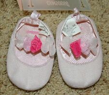 NEW GYMBOREE Spring Dressy Collection Easter Pink Flower Crib Shoes 04 4 NWT