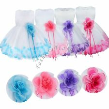 Baby Flower Girl Toddler Clothes Princess Wedding Party Pageant Fancy Tutu Dress