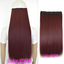 Straight 5 clips on hair piece clip in hair extensions B5 fiber similar as remy