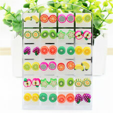 24 Pairs Pin Resin Earring Stud Wholesale Lot Environmental Plastic Fruit Bead