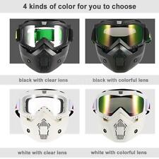 Mortorcycle Motocross Ski Detachable Goggles Face Mask Mouth Filter Cool V7P6