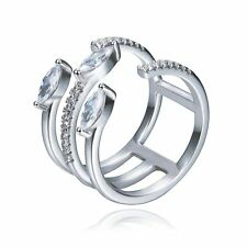 Wedding Ring Women Fashion Jewelry Round Cut CZ 925 Sterling Silver Size 6 7 8