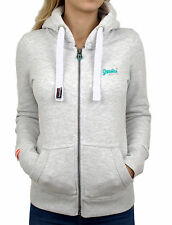 Superdry Womens Orange Label Primary Ziphood Ice Marl NEW 2016