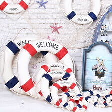 14 to 45cm Blue Red Mediterranean Nautical Decor Boat Ring Life Buoy Preserver