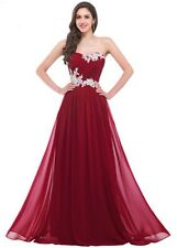 Women Bridesmaid Dress Beading Sequins Floor Length Sweetheart Prom Dress