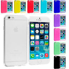 For Apple iPhone 6 Plus 5.5 Color TPU Rubber Case Cover Transparent Clear