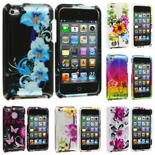 For iPod Touch 4th Gen 4G 4 Color Flower Design Hard Skin Case Cover Accessory
