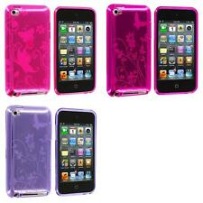 For iPod Touch 4th Gen 4G 4 Color Butterfly Flower TPU Rubber Skin Case Cover