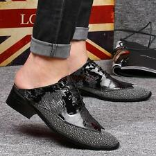 Men's Stylish Dress formal Faux patent leather Lace-up Slip on Loafers Shoes #