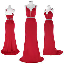 Red Womens Long Evening Party Ball Prom Gown Formal Bridesmaid's Cocktail Dress