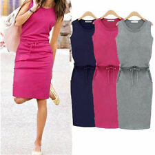 Cocktail Casual Fashion Sleeveless Sexy Dress Women Summer Short Evening Party