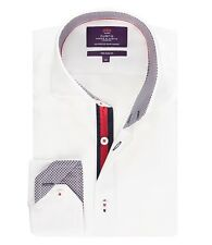 Hawes & Curtis Mens Long Sleeve Slim Fit Shirt With Contrast Detail High Collar