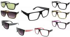 Black Rectangular Flat TOP Frame Retro Geek Clear Lens Nerd Glasses Thick 80's