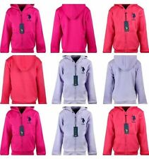 Girl Kids Ex US Polo ASSN Thermal Fleece Hoodie Jacket Toddler size 2 - 13 Y